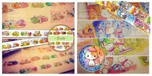 Preview Snail/Nekodachi Washi tape by jinyjin