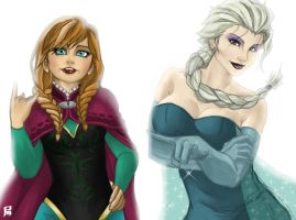 The Arendelle Sisters by hidanbasher