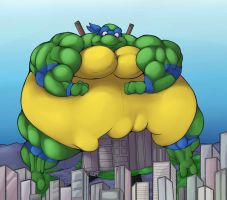 Sumo Leo bigger then the Big Apple by RickyDemont