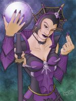 cstuck's Evil Lyn colored by andydiehl