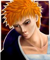 Bleach:Semi realistic Ichigo by lainchan