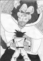 goku vs oozaru vegeta by billyfar32