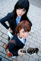 Mio and Yui by black---butterfly