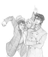 Crossover - Arkady, Lev and Rodion by Rabemar