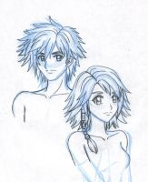 Tidus and Yuna by Youku-Kazeyami