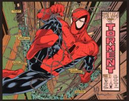 SpideyTorment colored by PauloSiqueira
