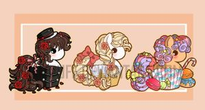 Cupcake Ponies 2nd Set ::Commission:: by YamPuff