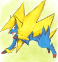 Mega Manectric by Nid15