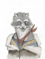 Raccoon With Coat Thing by Zethelius