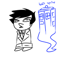 TARDIS STUCK by sketchette