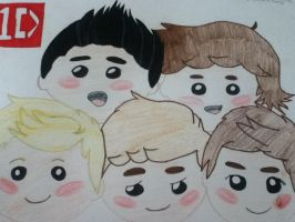 one direction chibi style by physco-nat