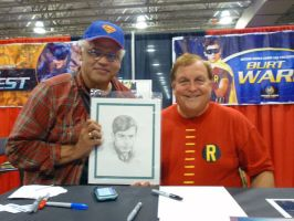With Burt Ward by AbdonJRomero