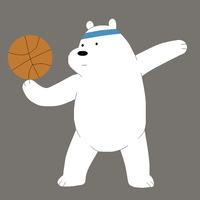 Ice Bear Has the Ball by saffronpanther