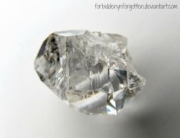 Herkimer Diamond by Forbiddenynforgotten
