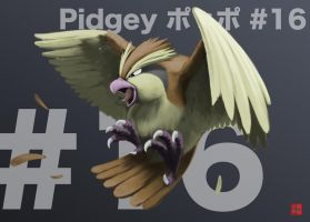 016 Pidgey by gillpanda