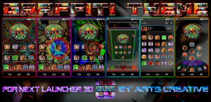 Next Launcher 3D Theme Graffiti 2Dn3D Mode v1.6 by ArtsCreativeGroup