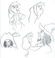 clopin and tiny girl by puppetstringz