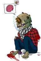 Hipster Zombie by BoyInACastle