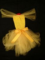 Beauty and the Beast Belle tutu back by DustbunnieDoodads