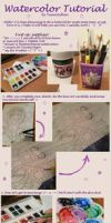 Watercolor tutorial by Yuuricchin