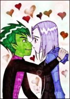 Kissing Hearts - BBxRae by pizet