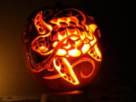 sea turtle carved pumpkin by 4NGEL5F4LLF1R5T