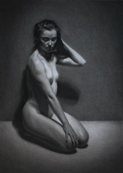 Charcoal Drawing of Female Nude by LordSnooty