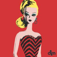 Warhol Barbie Screenprint by Delaney-M