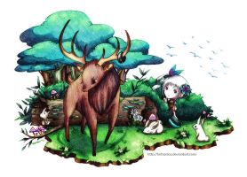 LoE Quest: stuck in the antler by Fortranica