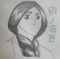 Pencil Sketch- Retsu Unohana by SourpatchDevil