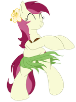 Hula dancing Roseluck by avirextin