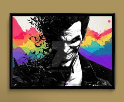 Joker watercolor print by ColourInk