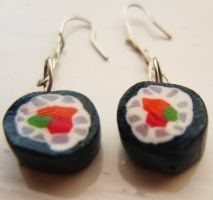 sushi earrings by citruscouture