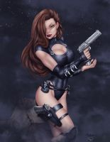 Deacon Black's Spy Girl - Colors by StacyRaven
