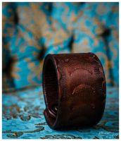 Tooled Leather Cuff by djorgensen