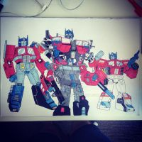 Generations of  Optimus Prime. by DrawMEGA