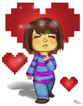 Frisk (With Speed Paint!) by brittninja