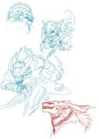 Some GW2 Sketches by BlackChaos666