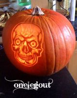 Carved Pumpkin by onelegout