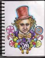 Willy Wonka Design Complete by Frosttattoo