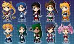 Sailor Moon Chibis by CelestialRayna