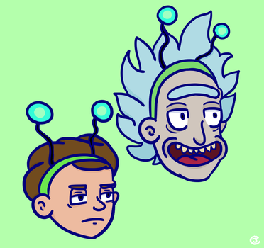 rick and morty by ForestDraws