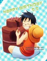 HAPPY BIRTHDAY LUFFY 2011 by msadagal
