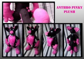 Anthro Pinky plush by FurryFursuitMaker