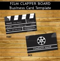 Film clapper Business Card Template by Hotpindesigns