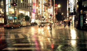 Raining Tokyo -reflection- by free-way-of-life
