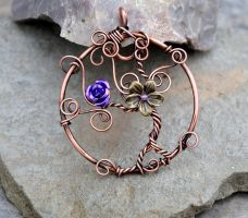 Tree of Life copper wire pendant by IanirasArtifacts