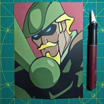 Green Arrow by Papergizmo