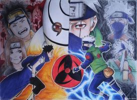 Kakashi vs Obito by chaos-strikes