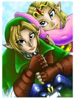Link and Zelda by MedevalMaiden